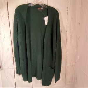 Forest Green large open front pocket sweater